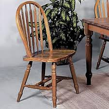 Oak Spindle Back Dining Chairs Crown Solid Spindle Back Dining Side Chair Wayside