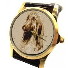 afghan hound vintage dog u0026 animal lover watches superbrass