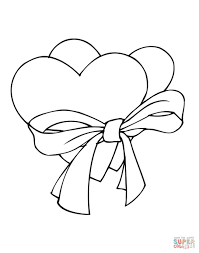 heart pictures color free coloring pages print