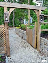 garden arbor plans picket fence gate plans how to build a picket fence gate garden