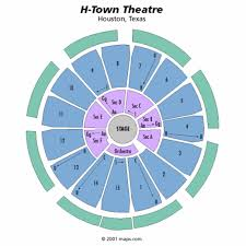 houston event map h town arena theatre seating chart h town arena theatre tickets