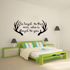 popular bedroom wall sayings buy cheap bedroom wall sayings lots bedroom wall decor antler wall sticker sayings be loyal to the one who is loyal to