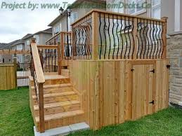 nice idea of wooden under deck storage building several