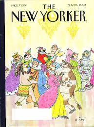 new yorker cover william steig thanksgiving costume dancers