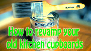 diy ronseal how to varnish new kitchen cupboards uk revamp tired