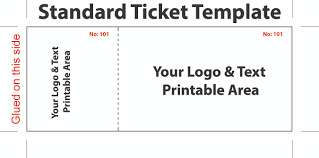 ticket template free editable standard ticket template exle for concert with