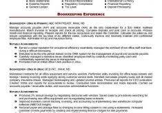 Bookkeeping Resume Samples by Download Bookkeeper Resume Sample Haadyaooverbayresort Com