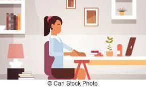 affaires de bureau indien femme fonctionnement business séance femme clipart