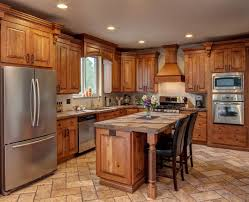 Pine Cabinets Kitchen by Rustic Knotty Oak Kitchen Cabinets Monsterlune