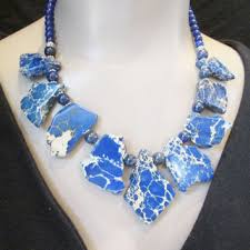 natural stone statement necklace images Best chunky gemstone necklace products on wanelo jpg