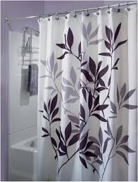 Purple Bathroom Curtains Bathroom Purple And White Color Ideas For Designer Shower Curtains