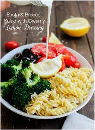 pasta u0026 broccoli salad with creamy lemon dressing gimme delicious