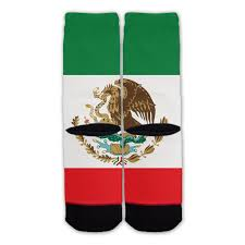Picture Of Mexican Flag Mexican Flag Fashion Socks Function Socks