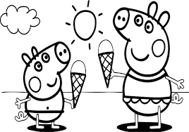 coloring pages peppa the pig peppa pig video free coloring page wecoloringpage