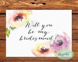 bridesmaid invites bridesmaid invite etsy