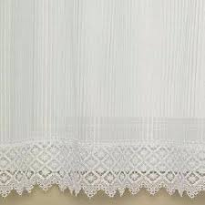 Heritage Lace Shower Curtains by Chelsea Pinstripe Sheer Panel With Macrame Trim Heritage Lace