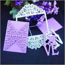 2pcs set 3d envelope love photo frame metal cutting dies scrapbook