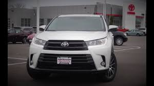 toyota highlander new 2017 toyota highlander se review youtube