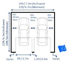 dimensions of a 2 car garage garage dimensions