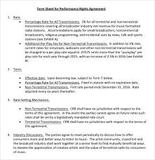 Term Sheet Template Sle Term Sheet 6 Exle Format