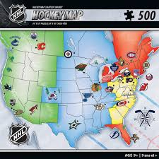 Usa Puzzle Map by Nhl Hockey Map 500 Piece Jigsaw Puzzle Nhl And Products