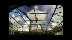 pool screen roof repair youtube
