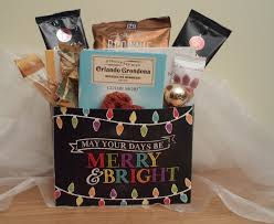 and bright holiday gift basket christmas gift basket
