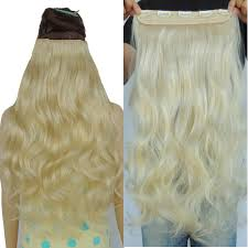 Long Blonde Wavy Hair Extensions by High Quality Noble Gold Synthetic Curly Weave Promotion Shop For