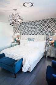a tamara trellis stenciled guest bedroom stencil stories