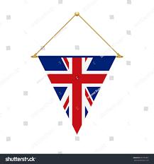 flag design english triangle flag hanging stock vector 661757851