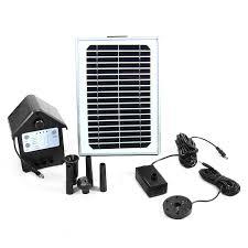 Solar Lights For Ponds by Sunnydaze Solar Pump U0026 Solar Panel Kit W Battery U0026 Led