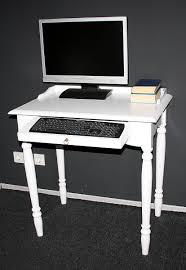 Pc Schreibtisch Landhaus Schreibtisch Pc Tisch Weiß Lackiert Holz Massiv Bei Casa