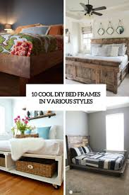 Diy Bed Frames 10 Cool Diy Bed Frames In Various Styles Shelterness