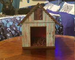 dog barn cardboard cat house etsy