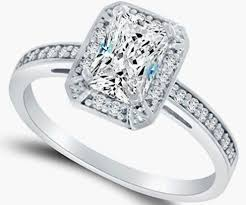 cubic zirconia halo engagement rings emerald cut cubic zirconia halo ring in white gold engagement