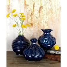 3 Vases Set 6 In Sculpted White Ceramic Decorative Vases Set Of 3 92564