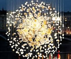 Glass Blown Chandelier Glass Bubbles Chandelier