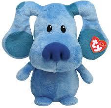 amazon com ty pluffies blue blue u0027s clue nickelodeon plush soft