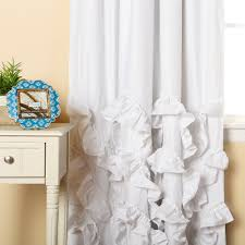 White Ruffled Curtains For Nursery by Bathroom Maribella Gold Ombre Ruffle Curtains For Pretty Bathroom