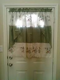 Half Window Curtain Charming Inspiration Curtain For Door With Half Window Excellent