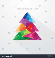 low poly art style multicolored christmas stock vector 218130964