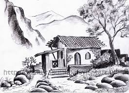 gallery landscape pencil sketches simple drawing art gallery