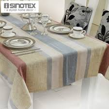 aliexpress com buy linen party table cloth 130x180cm dobby table aliexpress com buy linen party table cloth 130x180cm dobby table cover decor burlap rustic tablecloth silver threads stripes chenille 1pcs lot from