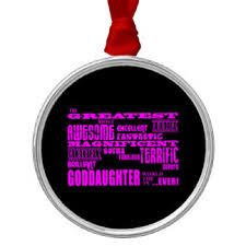 Goddaughter Ornament For Goddaughter Christmas Tree Decorations U0026 Baubles Zazzle Co Nz