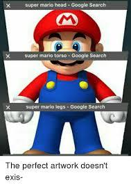 Search Memes - super mario head google search super mario torso google search super