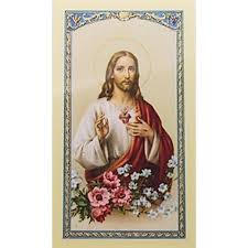 i commit this day to you sacred of jesus prayer card