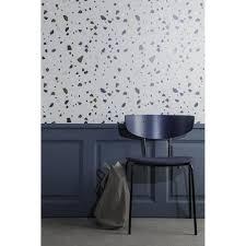 non woven grey wallpaper terrazzo printed par ferm living wallpaper terrazzo ferm living vintage wallpaper grey