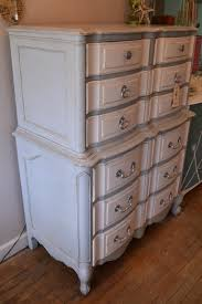 Painting French Provincial Bedroom Furniture by French Provincial Dresser In Pale Grey And White W Silver