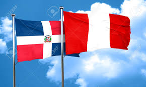 Dominican Republic Flag Dominican Republic Flag With Peru Flag 3d Rendering Stock Photo