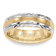 gold mens wedding bands 11 wv5013 serene 5 5mm two tone gold mens wedding band from